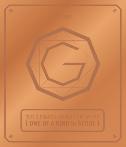 G-Dragon-2013 G-DRAGON WORLD TOUR LIVE CD[ONE OF A KIND in SEOUL](Bronze Ver+Booklet)
