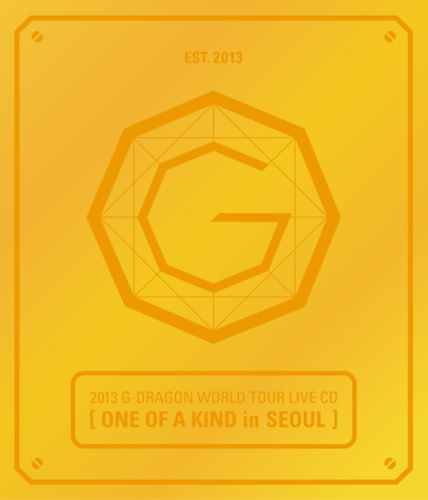 G-Dragon-2013 G-DRAGON WORLD TOUR LIVE CD[ONE OF A KIND in SEOUL](Gold Ver.+Booklet)