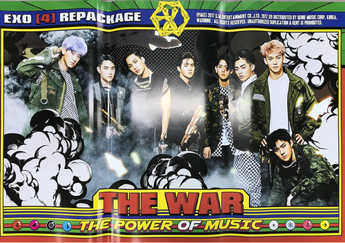 POSTER - EXO Album Repackage Vol.4 - The War (The Power Of Music)