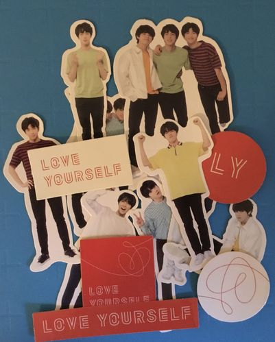 BTS WORLD TOUR  'LOVE YOURSELF' DECO STICKER SET