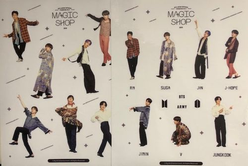 BTS deco sticker set